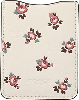 Phone Pocket Sticker with Floral Bloom Print