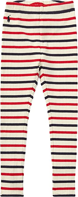 Polo Ralph Lauren Kids - Striped Stretch Cotton Leggings (Little Kids)