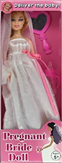 Laughmart Pregnant Bride Doll - After The Wedding, Deliver The Baby - Fun Bridal Shower Gift - Boxed - by The Pregnant Doll Company