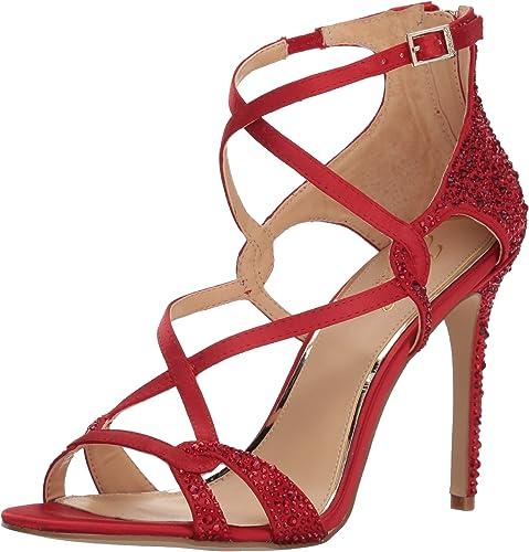 Badgley Mischka Femmes Sandales à Talon Couleur Rouge rouge Taille 38 EU   7 Us