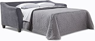 Simmons Upholstery Albany Sleeper Sofa, Queen, Pewter
