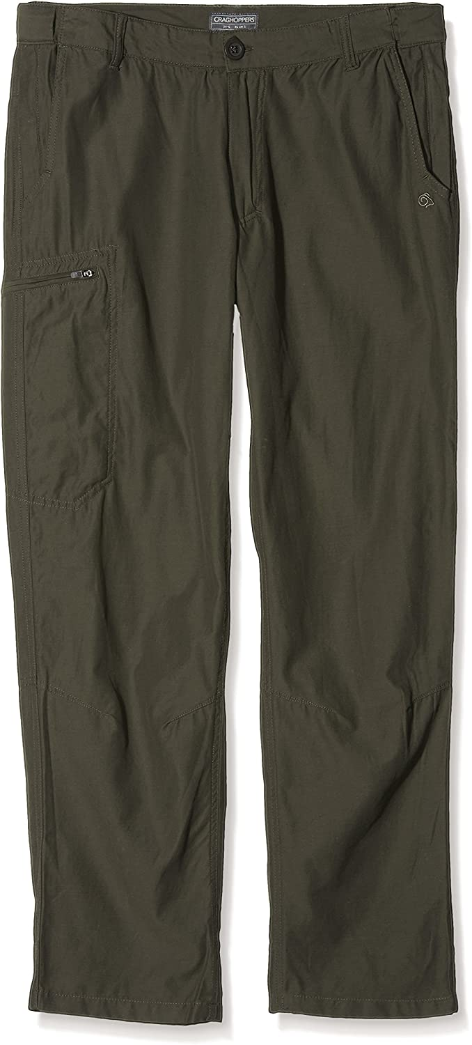 CRAGHOPPERS KIWI TREK MENS TROUSERS BARK (LEG S WAIST 38IN)