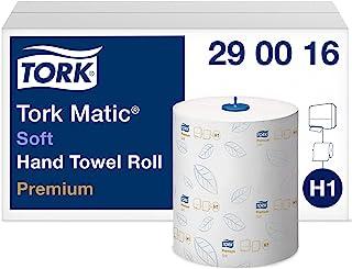 Tork Matic Rouleaux Essuie-mains en papier doux Premium 290016 - Papier d'essuyage pour Distributeurs H1 - Haute absorptio...