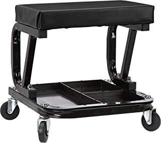 AmazonBasics Rolling Creeper, Garage/Shop Seat with 300-Pound Capacity - Black