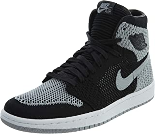 Jordan Nike Kids Air 1 Retro Hi Flyknit BG Black/WolfGrey/White 919702-003