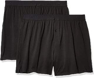 Men's Organic Cotton Knit Boxers Underwear (2 Pack)