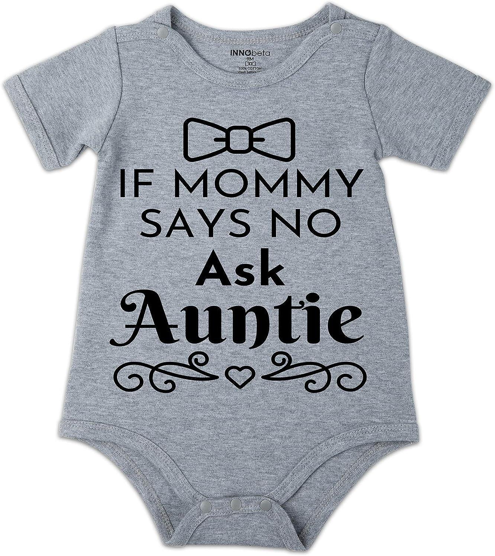 INNObeta Funny Unisex Baby Onesies, Short-Sleeve Bodysuit, for Baby Shower, Birthday