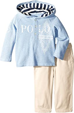 Mesh Hoodie and Twill Pants Set (Infant)