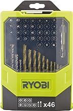 Ryobi RAK46MIX - Juego de brocas para taladro y puntas para destornillador (46 piezas, incluye caja plegable)