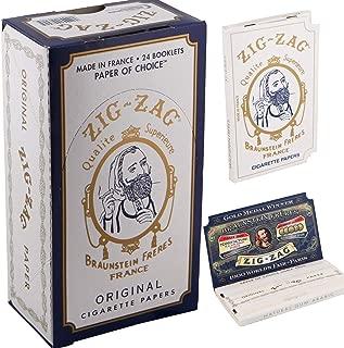 Zig Zag Full Box Cigarette Rolling Paper, Original White
