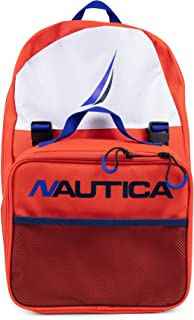 Nautica Kids' Big Backpack with Lunch Box Combo Set, Spicy Orange, One Size