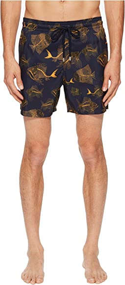 Mahina Prehistoric Fishes Swim Trunk