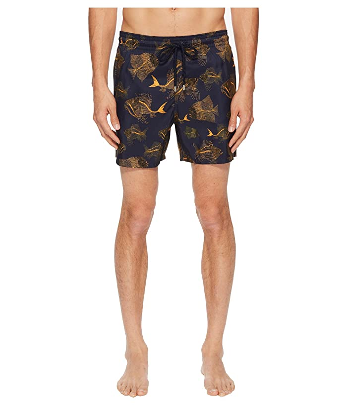 Vilebrequin Mahina Prehistoric Fishes Swim Trunk (Navy) Men