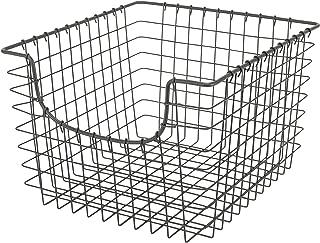 Spectrum Diversified Scoop Wire Storage Basket, Medium, Industrial Gray