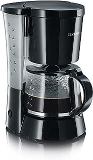SEVERIN kaffemaskin, för målat filterkaffe, 10 koppar, inkl. glaskanna, KA 4479, svart