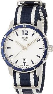 Tissot Men's Quickster Stainless Steel Quartz Watch with Nylon Strap, White, 18 (Model: T0954101703701