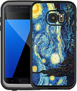 Teleskins Protective Designer Vinyl Skin Decals/Stickers for Lifeproof Samsung Galaxy S7 Fre Case -Vincent Van Gogh The Starry Night Design Patterns - only Skins and not Case