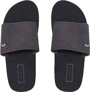Animal Mens Korrupt Casual Summer Slip On Beach Holiday Flip Flops Sliders-Black