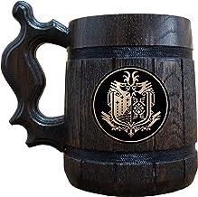 Monster Hunter World Wooden Beer Mug, MHW Beer Stein, Gamer Gift, Personalized Beer Stein, Monster Hunter Tankard, Custom ...