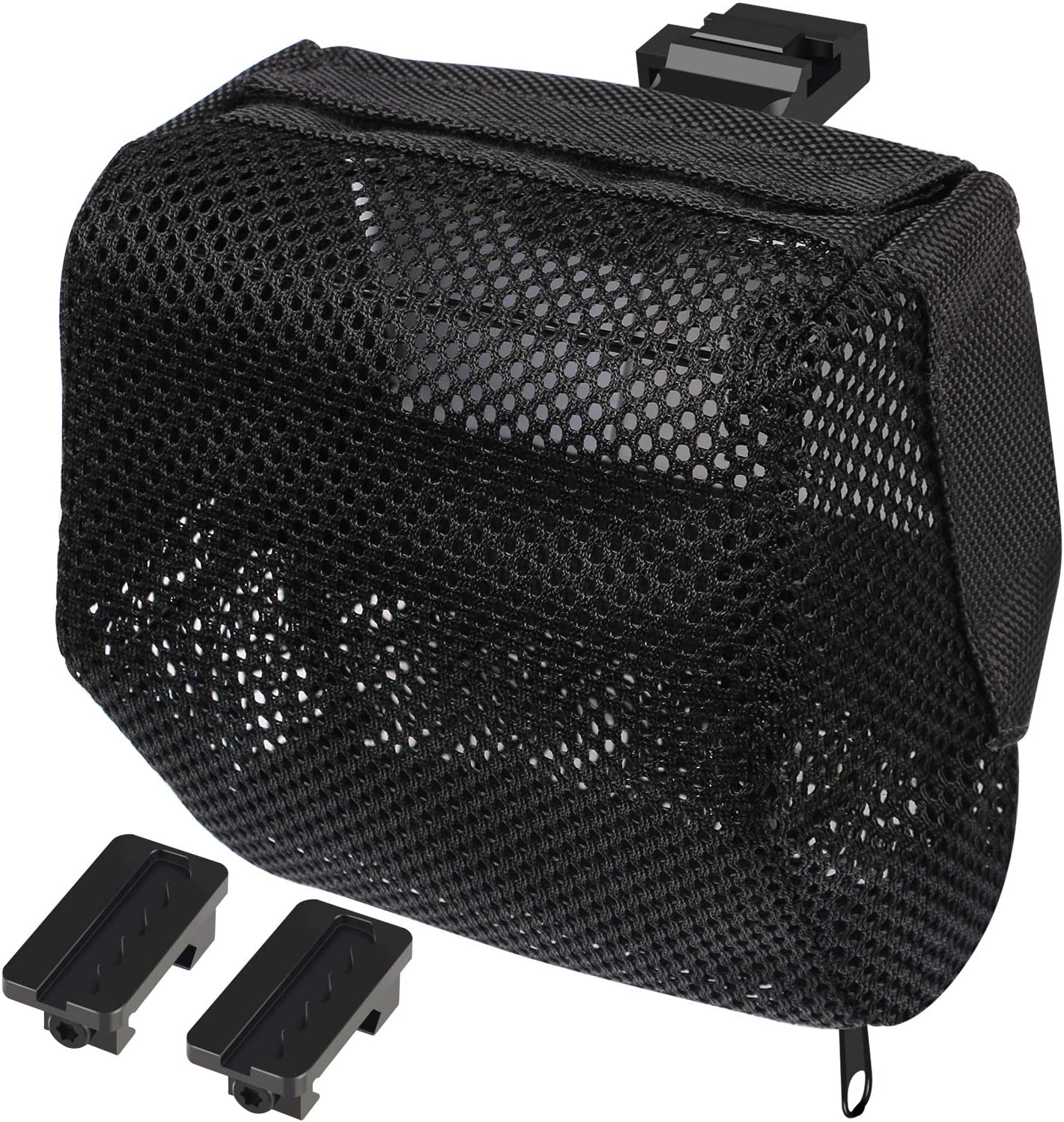 XAegis Brass Catcher, Universal Shell Catcher Net with Picatinny Rail Mount Heat Resistant Mesh Brass Collection for Rifle Range,Included Two Pic Rail Mounts
