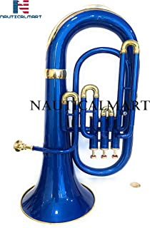 Bb Flat Blue Brass Euphonium With Free Hard Case Mouthpiece