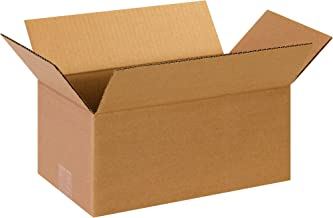 """BOX USA 25 Pack of Long Corrugated Cardboard Boxes, 12"""" L x 5"""" W x 5"""" H, Kraft, Shipping, Packing and Moving"""