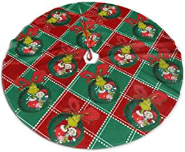 Funny Merry Christmas Tree Skirt, Good to Touch Xmas Tree Ornament, Xmas Tree Base Cover Mat for Party Decorations,Hallowe...