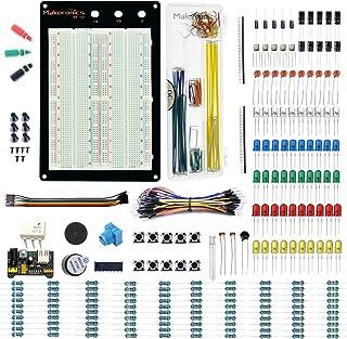 Makeronics 1660 Tie-Points Solderless Breadboard+Electronics Fun Kit  140 PCS U-Shape Jumpers  65 PCS Wires   Power Supply...