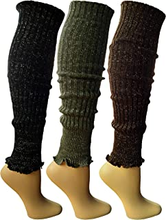 Womens Warm Winter Leg Warmers, Soft Colorful and Trendy