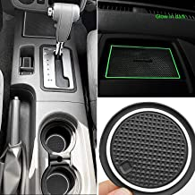 Auovo Anti Dust Mats for Nissan Frontier Crew Cab 2005-2019 Custom Fit Door Pocket Liners Cup Holder Pads Console Mats Accessories(24pcs/Set) (White(Glow in Dark))