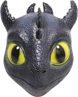 9749309f3 Homened Toothless Mask, Toothless Dragon Mask for Halloween Party Costume,  Toothless Costume for How