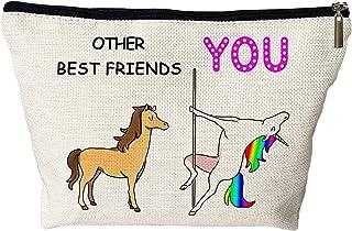أفضل هدايا للأصدقاء حقيبة ماكياج للنساء - هدايا عيد ميلاد للأصدقاء الإناث - حقائب مستحضرات تجميل مضحكة هدية لصديقاتك - هدي...