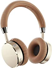 Satechi Aluminum Bluetooth Wireless Headphones with Enhanced Bass 3.5mm Audio-out Jack for iPhone X/8 Plus/8, Samsung Galaxy S8/S7 and more (Gold)