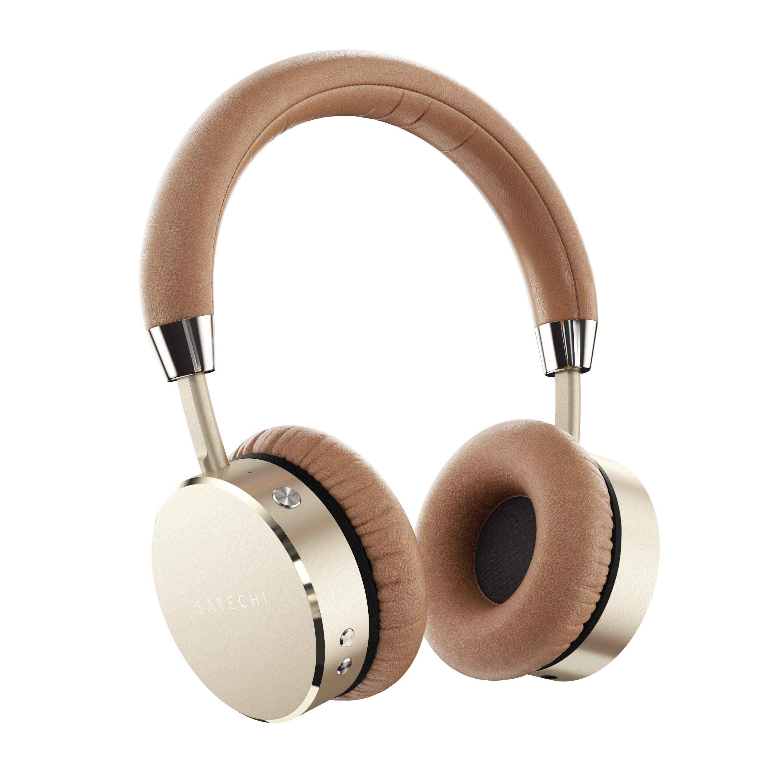 Amazon Com Satechi Aluminum Bluetooth Wireless Headphones With Enhanced Bass 3 5mm Audio Out Jack For Iphone X 8 Plus 8 Samsung Galaxy S8 S7 And More Gold Electronics