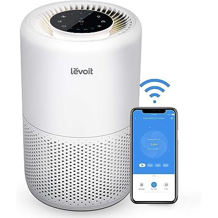 LEVOIT Core 200S Smart WiFi Sistema de filtración de aire, H13 True HEPA, color blanco
