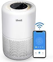 فیلتر تصفیه هوای LEVOIT Smart WiFi برای خانه ، فیلتر فیلتر Alexa HEPA Alexa Enabled H44 برای آلرژی ها ، حیوانات خانگی ، سیگاری ها ، دود ، گرد و غبار ، گرده ، تمیز کننده هوای ساکت 24dB برای اتاق خواب با طراحی خاموش ، هسته 200S