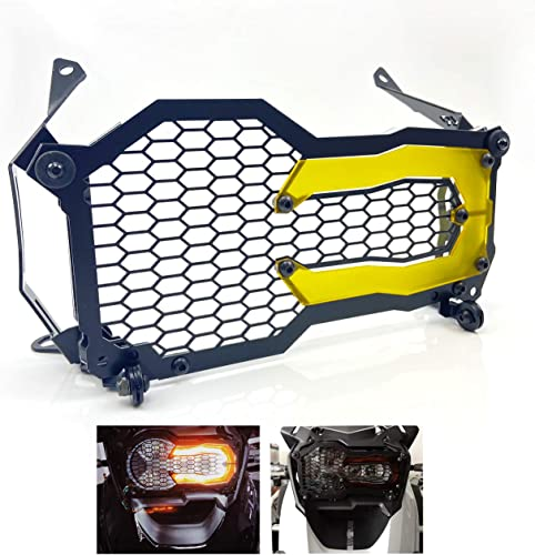 lowest Mallofusa Headlight sale Guard Protector Grille Grill Cover Acrylic Lamp Patch Light Bracket Covers Compatible for BMW R1200GS 2021 R1250GS LC ADV 4 Colors (Yellow) outlet sale