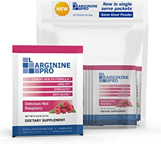 L-arginine Pro Supplement ON-The-GO Single Serve Travel Packets - 5,500mg of L-arginine Plus 1,100mg L-Citrulline (1 Bag (...