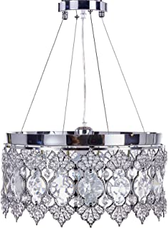Diamond Life Chrome Finish Modern Crystal Chandelier, Pendant Hanging or Flush Mount Ceiling Lighting Fixture, #165