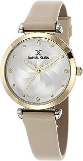 DANIEL KLEIN Premium Alloy Case Genuine Leather Band Ladies Wrist Watch - DK.1.12468-4