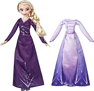 Hasbro Frozen 2 Arendelle Fashions Elsa Fashion Doll With 2 Outfits, Purple Nightgown and Dress Inspired by Disney's Froze...