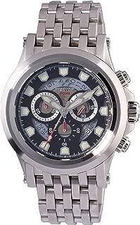 REACTOR Men's Einstein Swiss-Quartz Stainless-Steel Strap, Silver, 22 Casual Watch (Model: 40001)