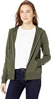 Amazon Brand - Daily Ritual Women's Terry Cotton and Modal Full-Zip Hooded Sweatshirt