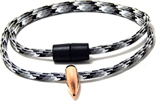 Hogs Tooth Necklace Sniper Urban Camo Paracord 30 Cal/308 Bullet
