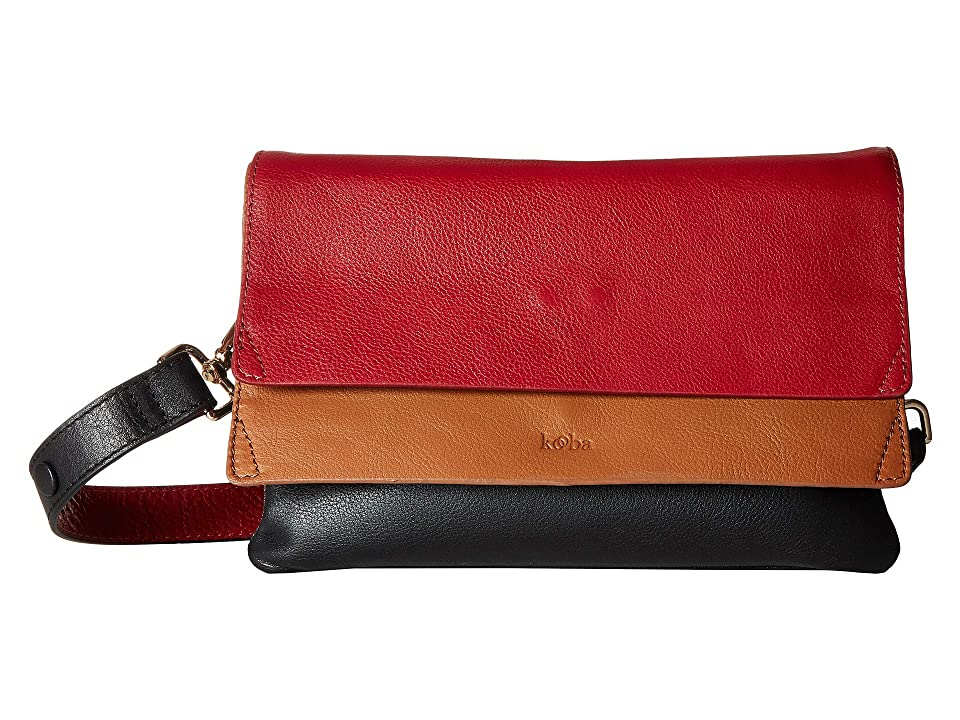 Kooba Hamilton Medium Shoulder Bag (Scarlet/Multi) Handbags