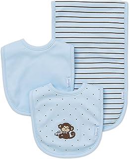 Little Me Boys' 3-Piece Bib & Burp Cloth Set