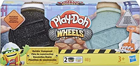 Play-Doh Wheels Cement and Pavement Buildin' Compound 2-Pack of 8-Ounce Cans