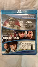 Emperor/Great Raid/Boy in Striped Pajamas Bluray triple feature NO DIGITAL COPY bluray discs/case/cover only
