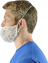Disposable Beard Nets Spun-Bonded Polypropylene 100 Pack, White