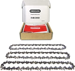 Oregon 3 x Saw Chains, 40 Drive Links: Fits 25 cm(10-In) Ryobi, Black + Decker, Gardenline Pole Saws and Others Paquete Si...